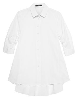 STEFFEN SCHRAUT Peplum Collar Button White