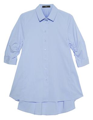 STEFFEN SCHRAUT Peplum Collar Button Light Blue