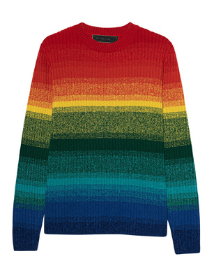 The Elder Statesman Morph Stripe Relaxed Crew Multicolor