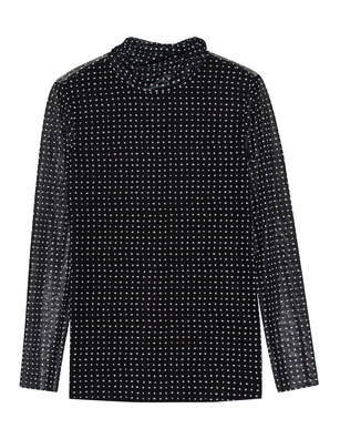 STEFFEN SCHRAUT Turtleneck Mesh Fancy Dots Black