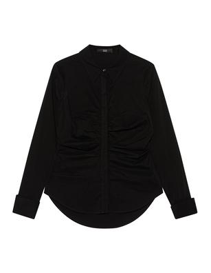 STEFFEN SCHRAUT Ruffle Front Shirt Black
