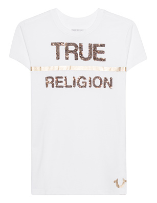 TRUE RELIGION Sprangles Logo White