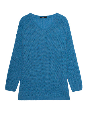 STEFFEN SCHRAUT Chunky Knit V Neck Electricblue