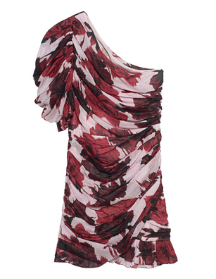ALEXANDRE VAUTHIER One Shoulder Print Multicolor
