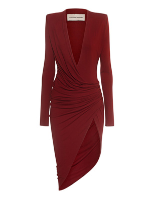 ALEXANDRE VAUTHIER Currant Dress Bordeaux