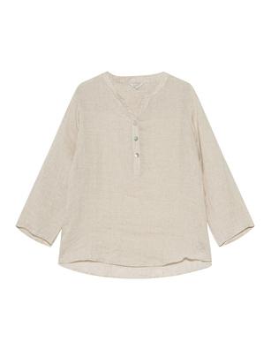 FROGBOX Linen Short Sleeve Beige