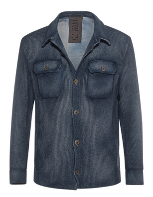 GMS-75 Knit Shirt Ribbed Blue