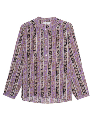 Isabel Marant Étoile Maria Stripes Flower Lilac Black