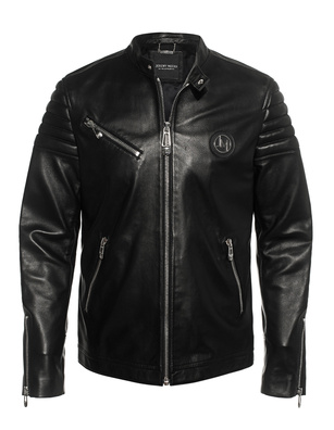 JEREMY MEEKS Leather Zip Black