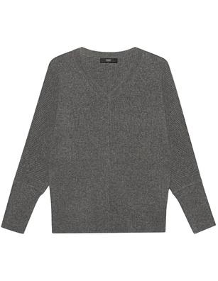 STEFFEN SCHRAUT Vneck Rib Knit Cloudy Grey