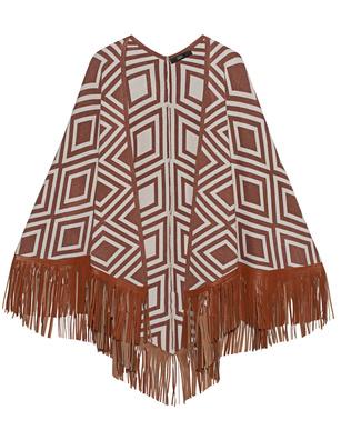 STEFFEN SCHRAUT Fringes Leather Pattern Copper Brown