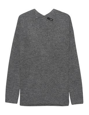 STEFFEN SCHRAUT V Neck Wool Grey