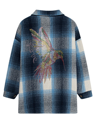 CAMOUFLAGE COUTURE STORK Checked Kolibri Blue