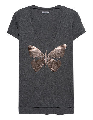 LAUREN MOSHI Emmalyn V-Neck Butterfly Grey