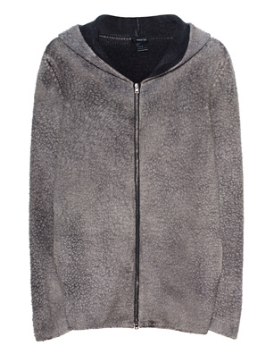 AVANT TOI Wool Hoody Zip Grey