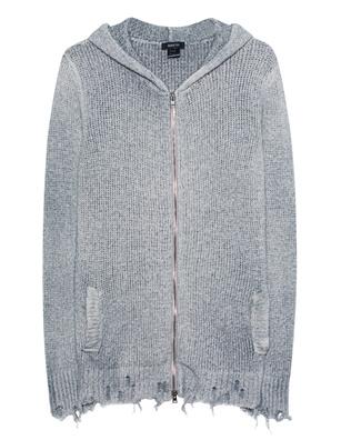 AVANT TOI Zip Hood Destroyed Light Grey