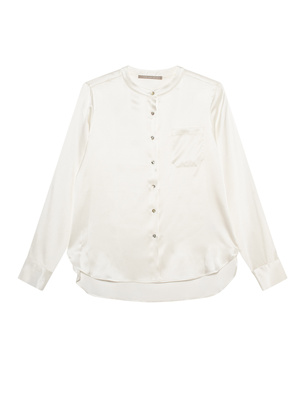 (THE MERCER) N.Y. Chest Pocket Silk Cream