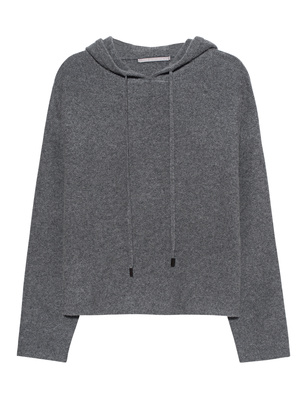 THE MERCER N.Y. Cropped Hoodie Grey