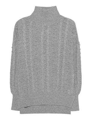 (THE MERCER) N.Y. Cashmere Cable Light Grey