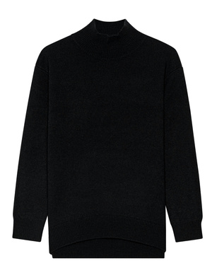 (THE MERCER) N.Y. Cashmere Stand-Up Collar Black