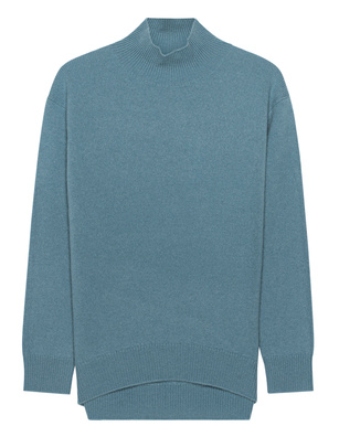 (THE MERCER) N.Y. Cashmere Stand Up Collar Lightblue