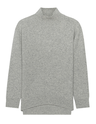 (THE MERCER) N.Y. CASHMERE STAND UP COLLAR SILVERMELANGE