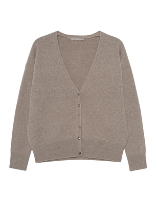 (THE MERCER) N.Y. V-NECK BASIC CASHMERE TAUPEMELANGE