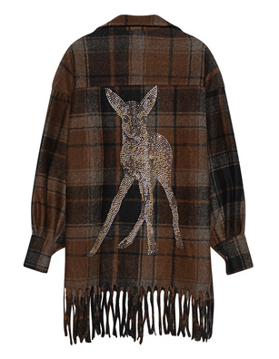 CAMOUFLAGE COUTURE STORK Fringes Deer Brown