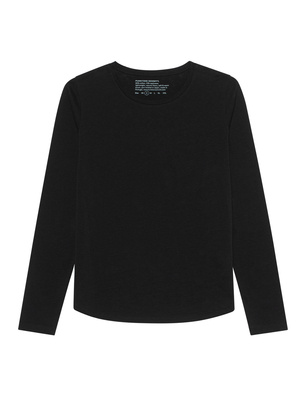 FUNKTION SCHNITT Crew Neck Long Black