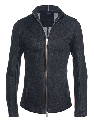 10SEI0OTTO Leather Zipped Stretch Black