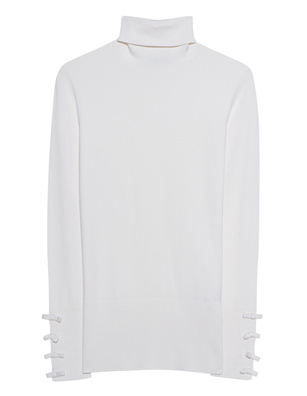 STEFFEN SCHRAUT Turtleneck Knit Ribbon Off-White