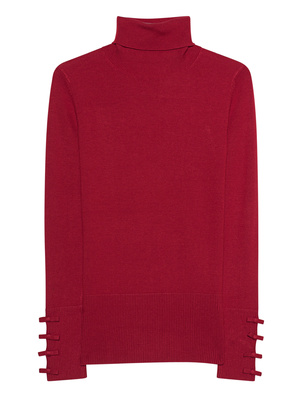STEFFEN SCHRAUT Turtleneck Knit Ribbon Red