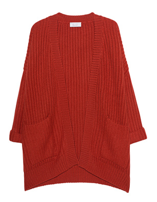 BE YOU Oversized Cashmere Rusty Red