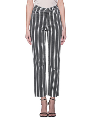 PAIGE Hoxton Straight Ankle Stripe Anthracite