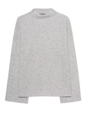 360 SWEATER Stand Up Collar Grey