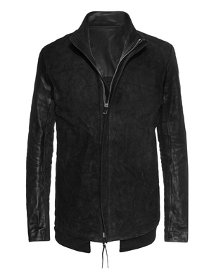 BORIS BIDJAN SABERI Leather Zipper Black