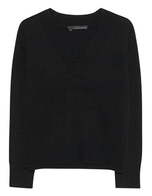 360 SWEATER Daisy V-Neck Black