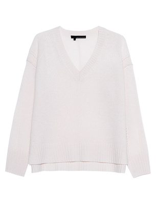 360 Cashmere Daria V-Neck Off-White