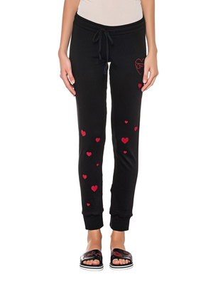 LAUREN MOSHI Jess Red Brat Hearts Leg Black