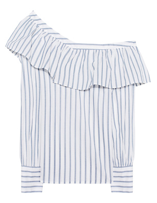 PAIGE Halsey Stripe Blue White