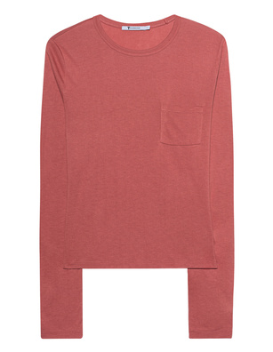 T BY ALEXANDER WANG Classic Cropped Long Sleeve Pink