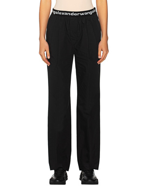 T BY ALEXANDER WANG Pull On Pleated Elastic Logo Black