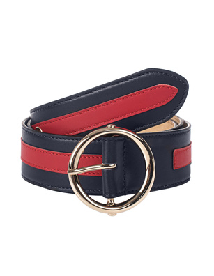 N.D.V. PROJECT Leather Stripe Blue Red
