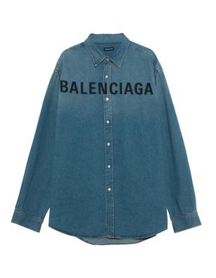 BALENCIAGA Logo Front Denim Blue