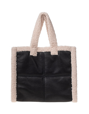 STAND STUDIO Lola Shearling Black