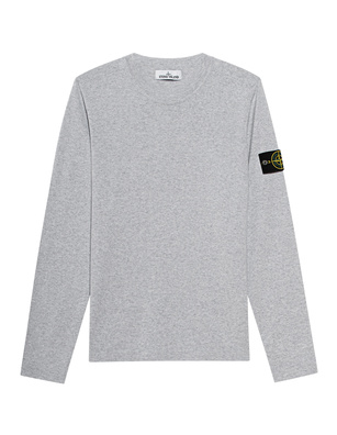 STONE ISLAND Logo Patch Knit Light Grey