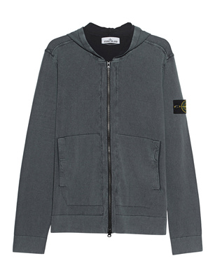 STONE ISLAND Zip Dyed Logo Patch Anthracit