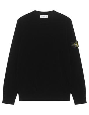 STONE ISLAND Basic knit Black