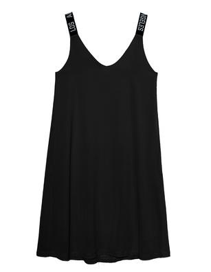 PAUL X CLAIRE Los Angeles Straps Dress Black
