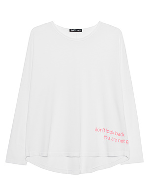 PAUL X CLAIRE Dont Look Back Sleeve White